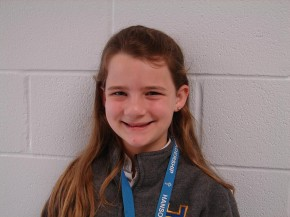 Alexandra Adams (Hanson Memorial High School), runner-up, 5-6 grade bee.
