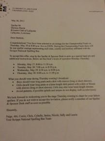 Damien's letter